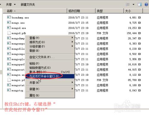 图解通过命令进行MongoDB数据库的备份和还原
